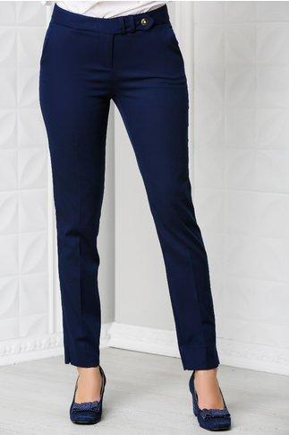 Pantalon Debra office bleumarin din bumbac