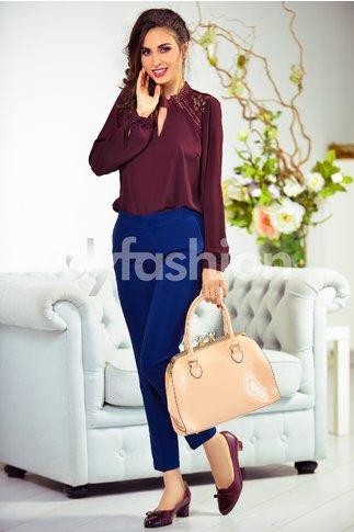 Pantalon Haru Bleumarin Office Eleganti