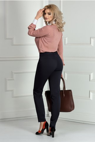 Pantalon Ioana bleumarin office eleganti