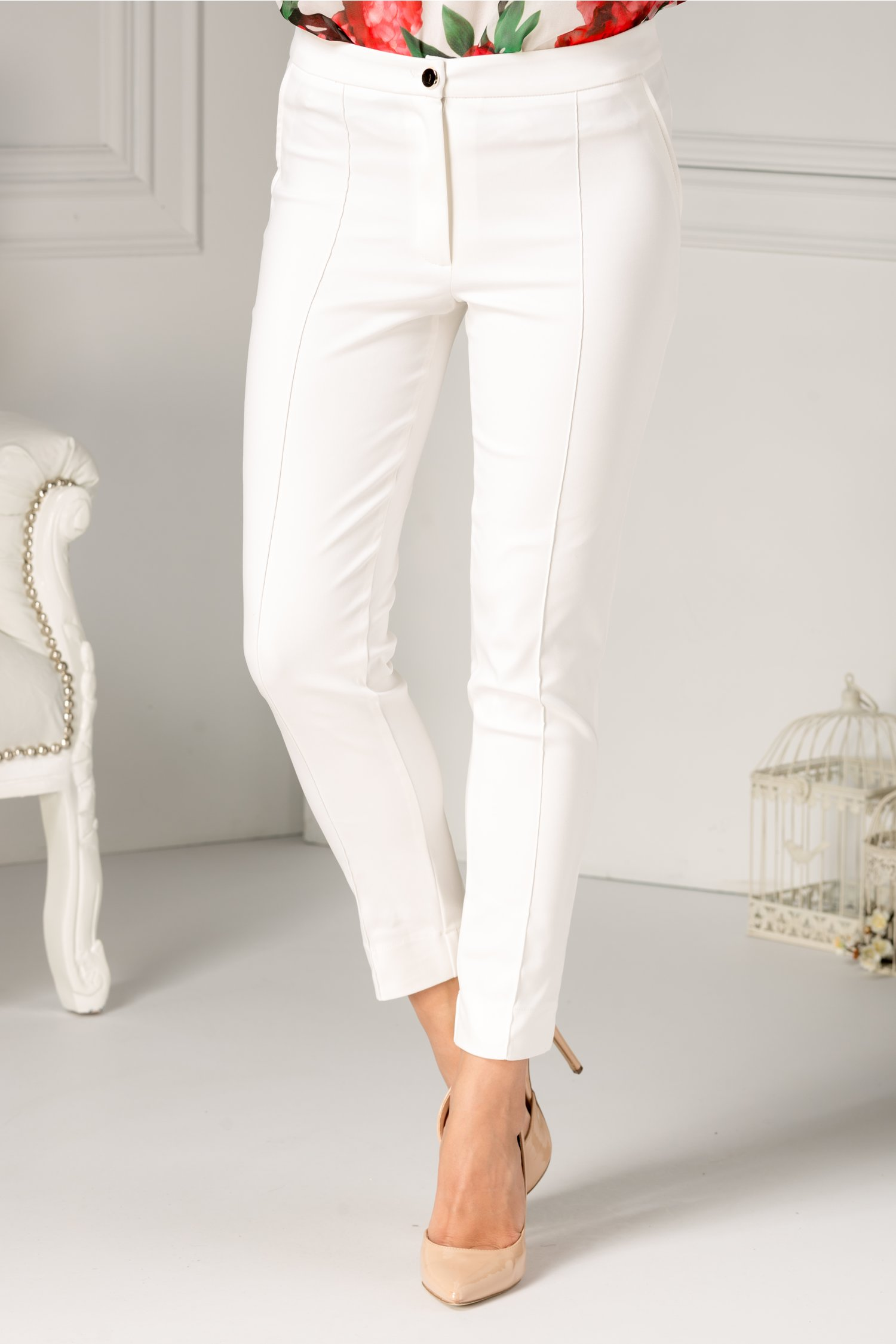 Pantalon LaDonna alb office