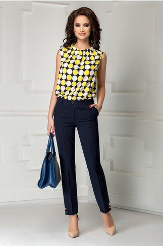 Pantalon Leonard Collection bleumarin cu nasturi