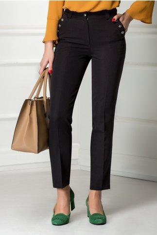 Pantalon Moze negru cu dunga si nasturi