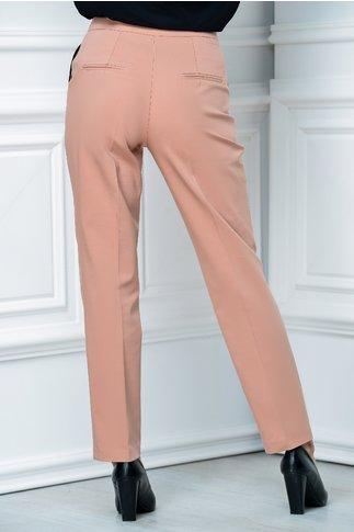 Pantalon Moze office slim roz praf