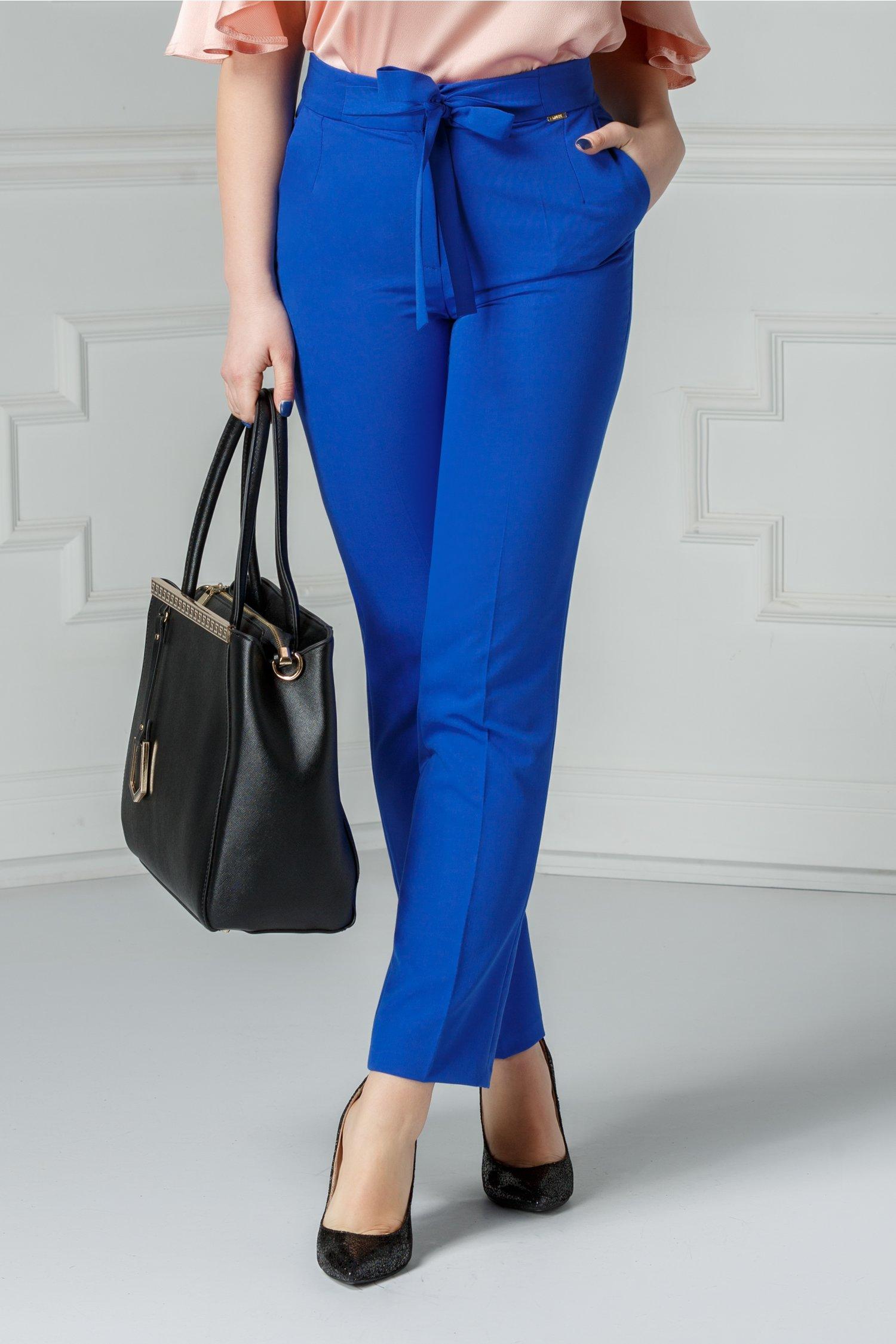 Pantalon Moze Relinda albastru office