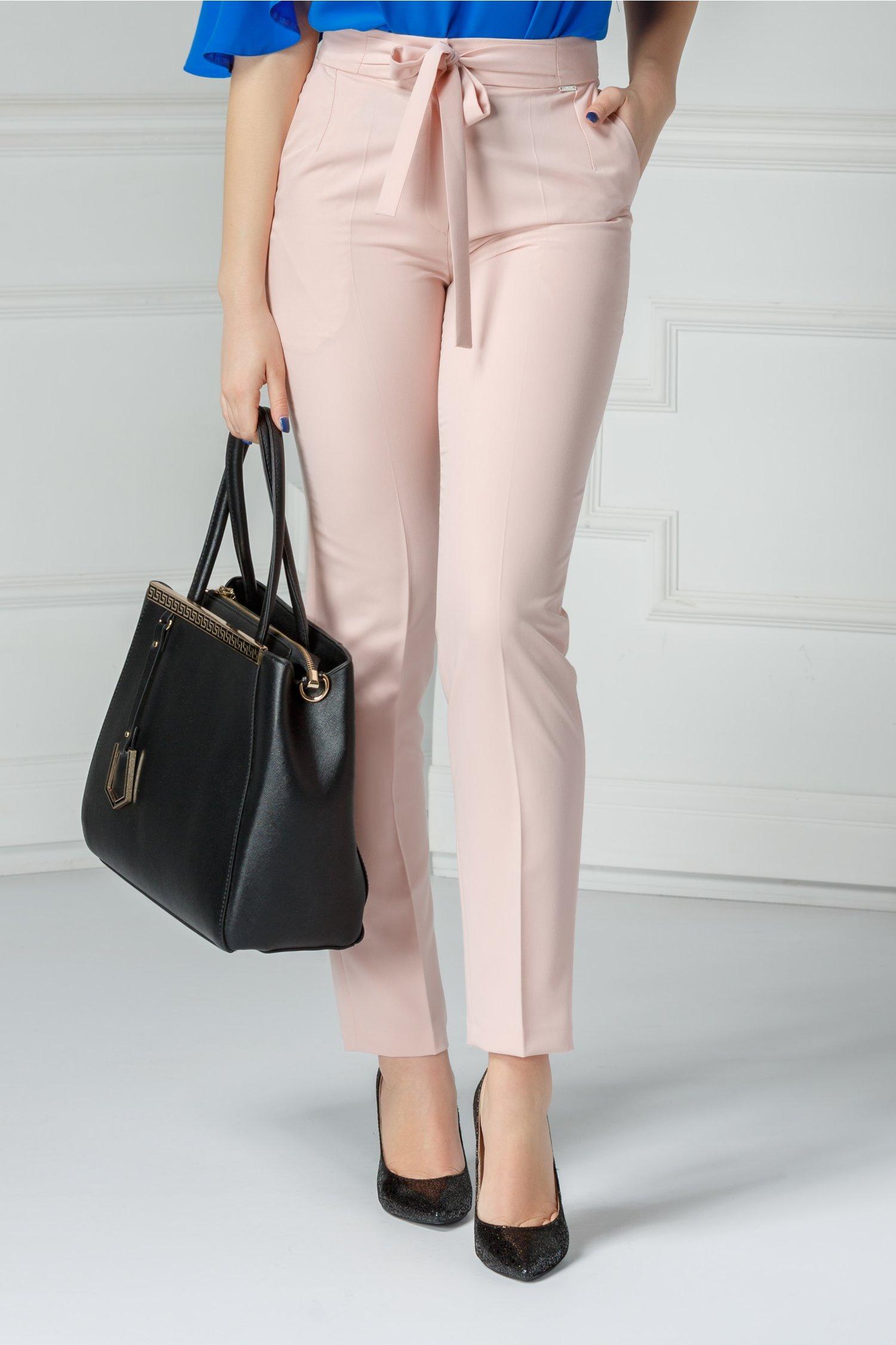 Pantalon Moze Relinda roz praf office