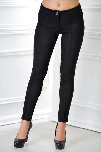 Pantalon Niami negru cu dunga