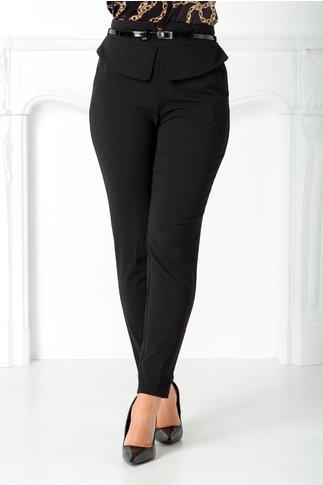 Pantalon Otilia negru cu peplum