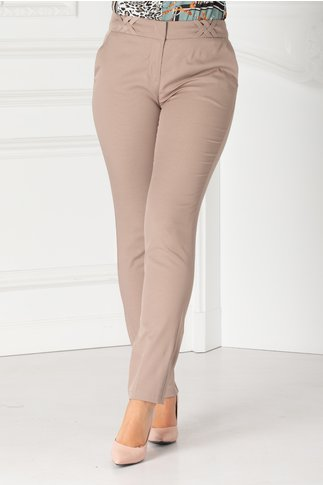 Pantaloni Amelia office bej