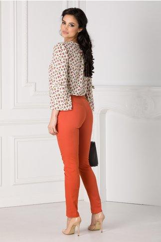 Pantaloni Amelia office caramizii