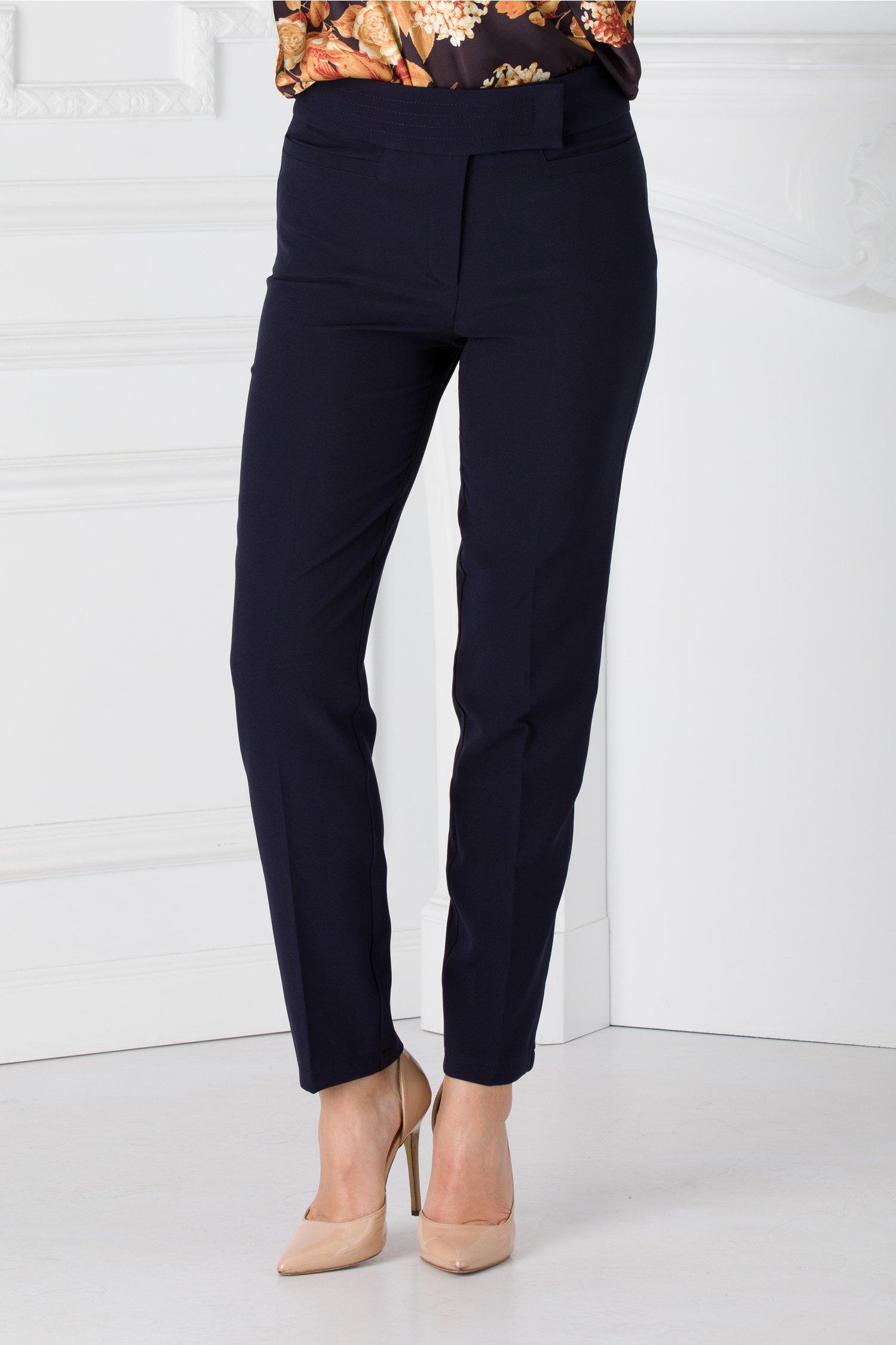 Pantaloni Anastasia bleumarin office
