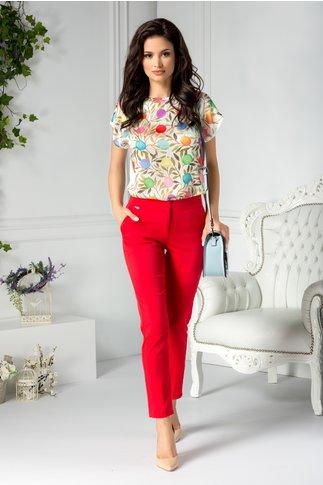 Pantaloni Briela office rosii
