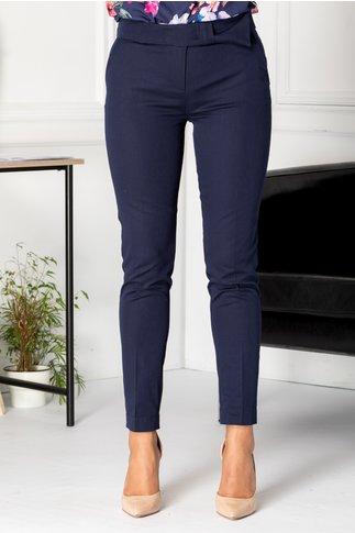 Pantaloni Cezara bleumarin office