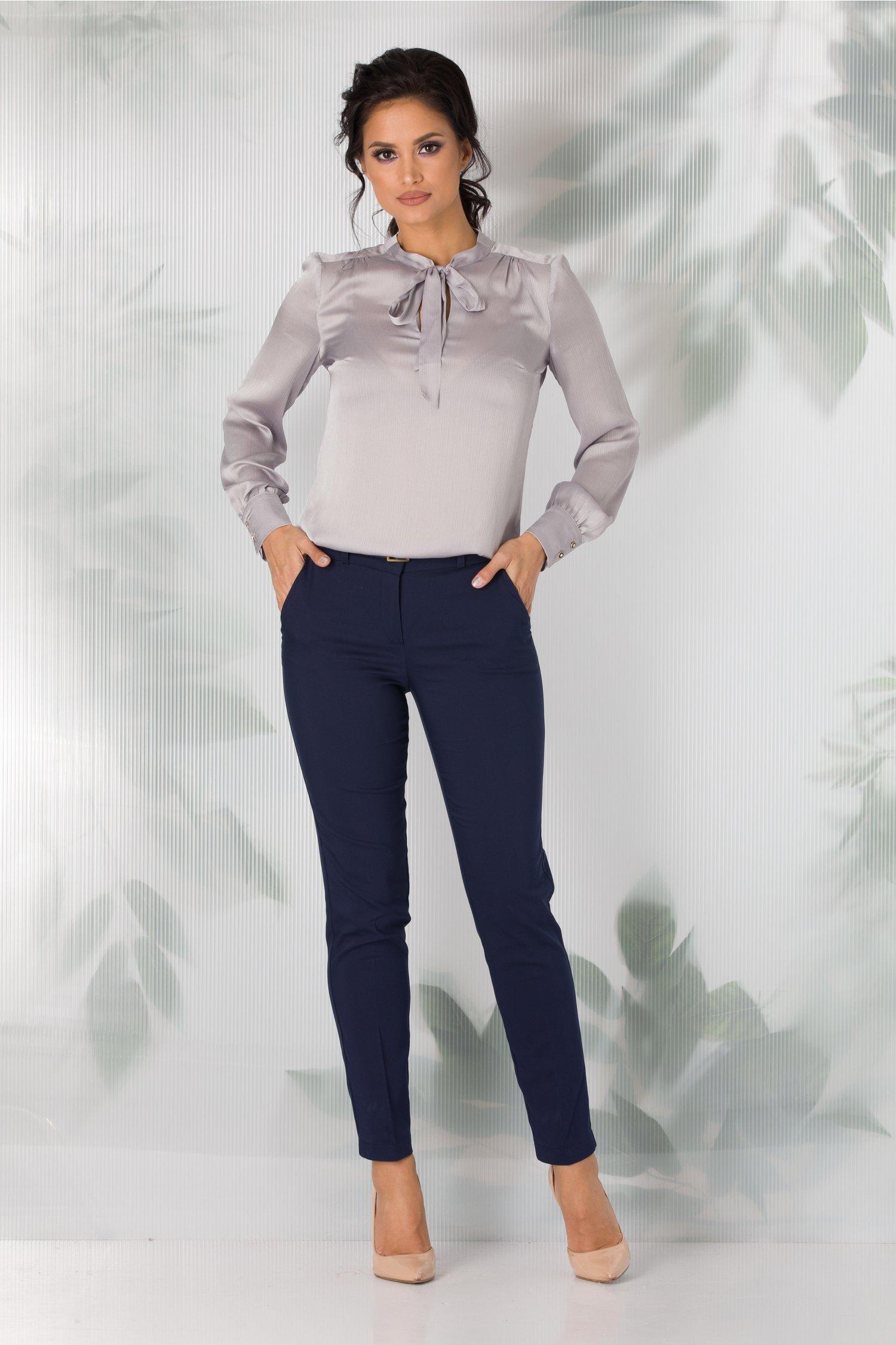 Pantaloni Cora office bleumarin