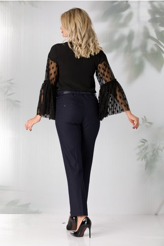 Pantaloni Criss bleumarin cu detalii discrete imprimate