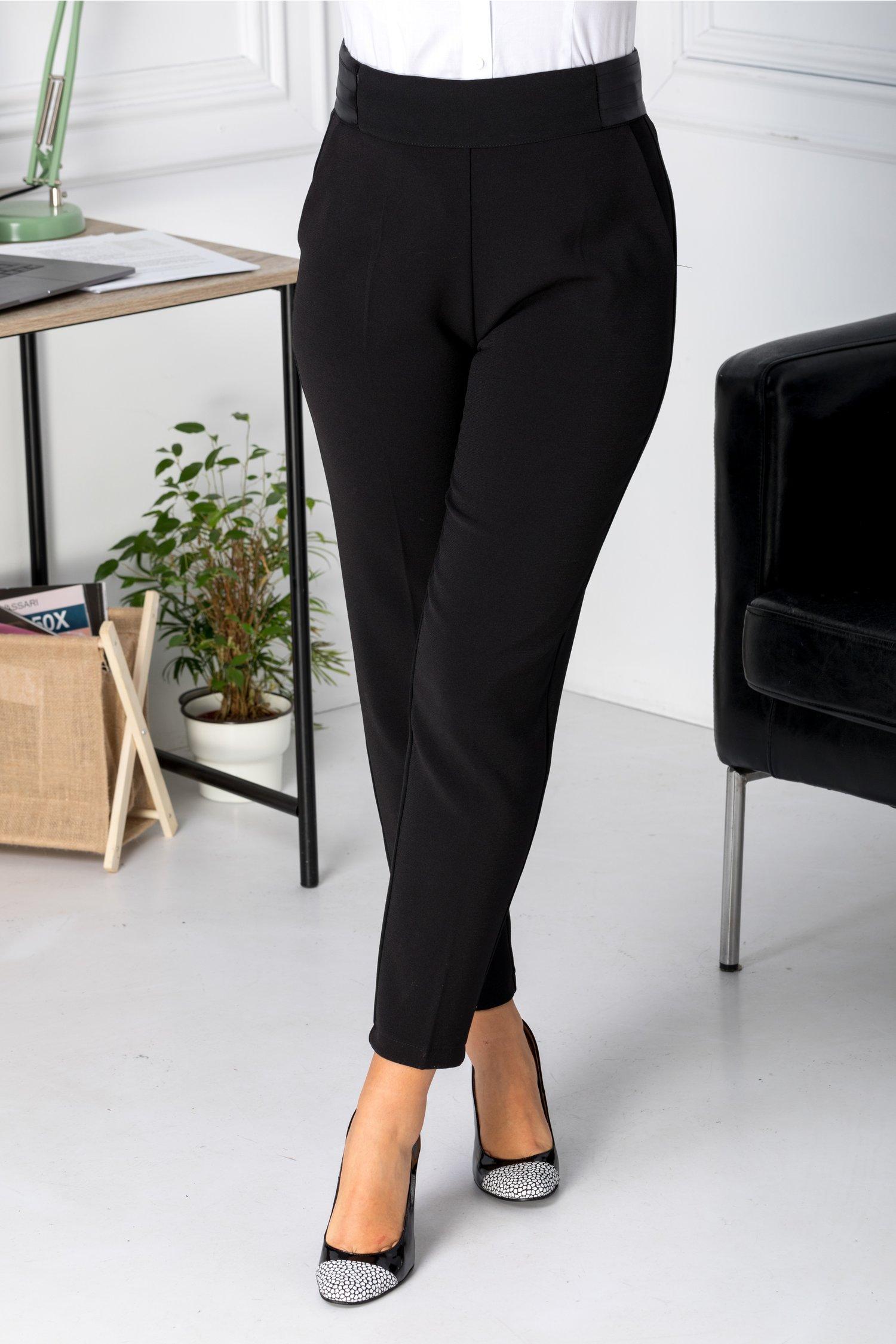 Pantaloni dama negrii office
