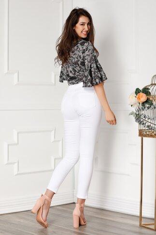 Pantaloni din denim albi