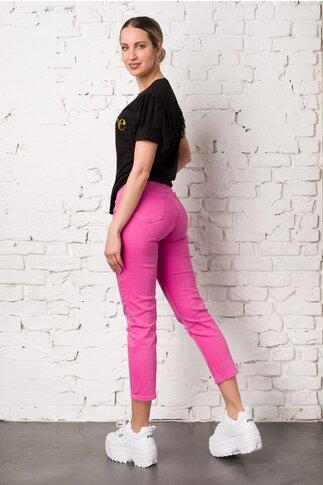 Pantaloni din denim fucsia