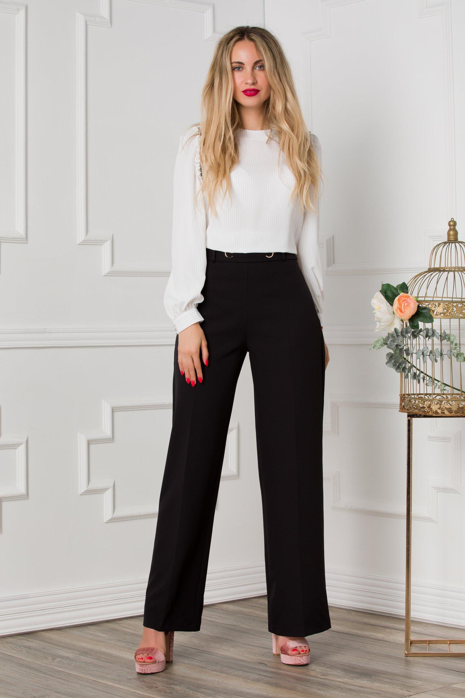 Pantaloni Dora negri eleganti