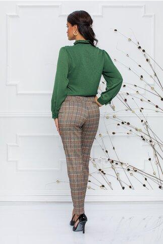 Pantaloni Elly maro in carouri