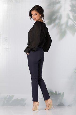 Pantaloni Emi office bleumarin