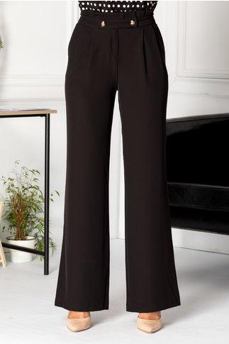 Pantaloni Emily negri largi eleganti
