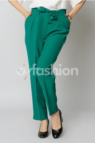 Pantaloni Enido Verde Office Elegant