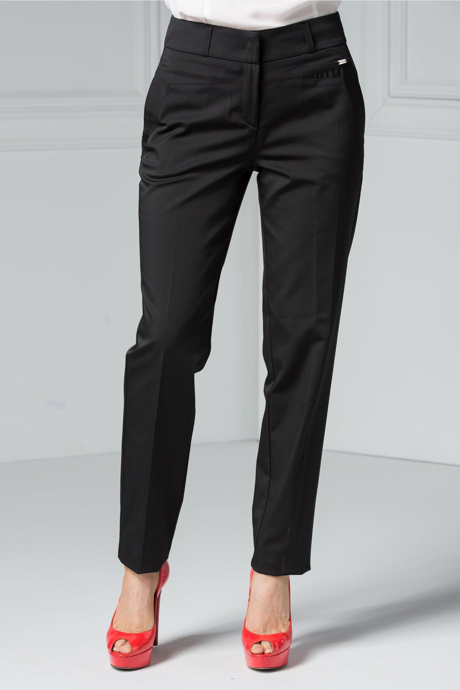 Pantaloni Ioana negri office eleganti