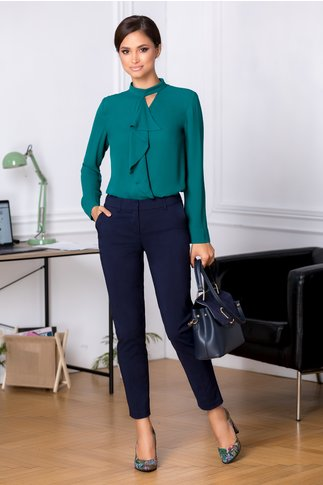 Pantaloni Iza bleumarin office