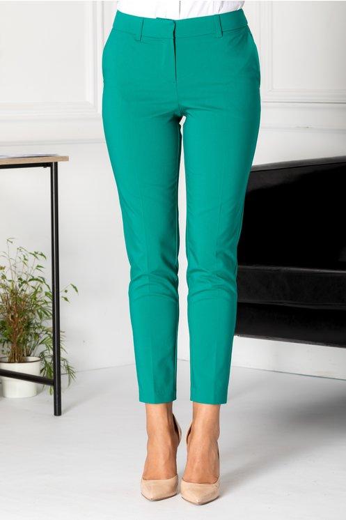 Pantaloni Iza verzi office