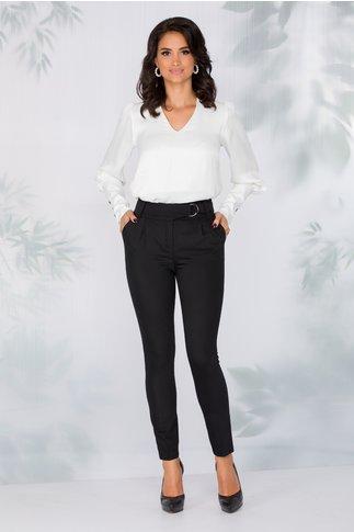 Pantaloni LaDonna negri eleganti cu catarama