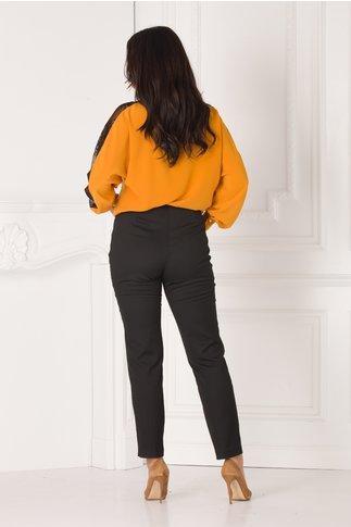 Pantaloni Lore negri cu dunga