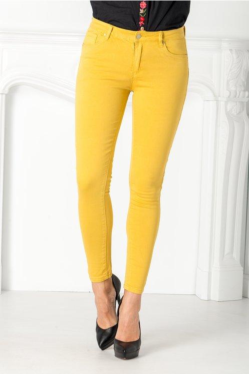 Pantaloni Mali galben mustar