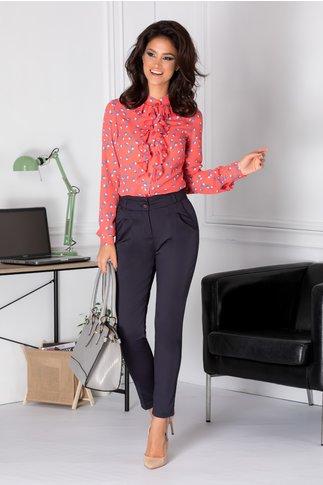 Pantaloni Malina bleumarin office