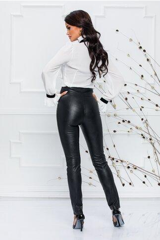 Pantaloni MBG din piele ecologica cu talie inalta