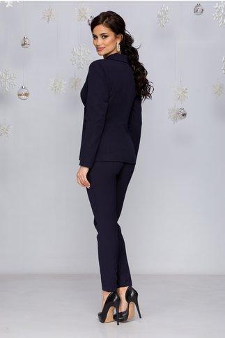 Pantaloni Moze bleumarin cu dunga si buzunare