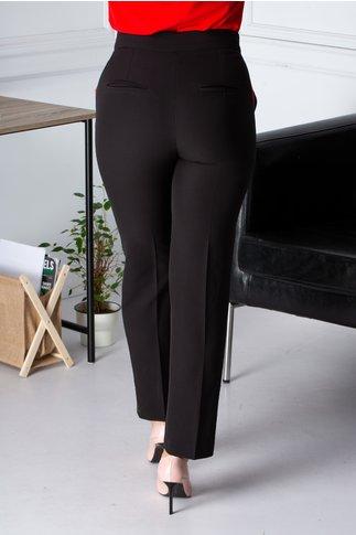 Pantaloni Moze negri cu lampas rosu-verde