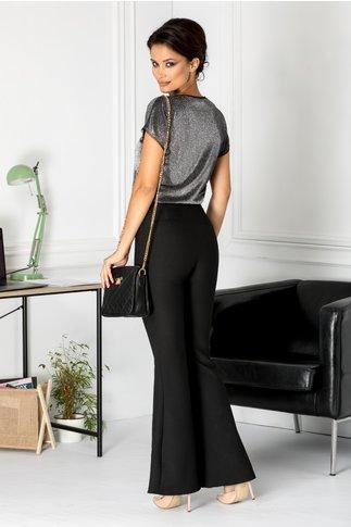 Pantaloni Moze negri evazati eleganti