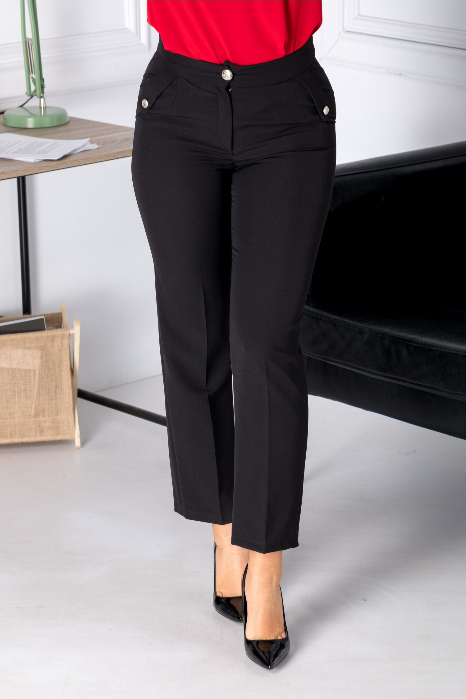 Pantaloni Moze office negri