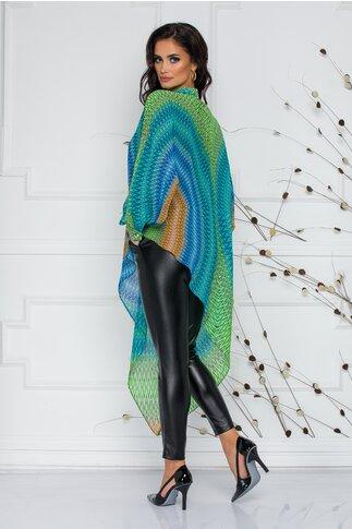 Pantaloni negri din piele ecologica LaDonna by Catalin Botezatu