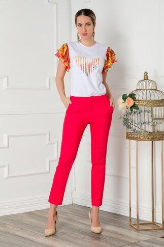 Pantaloni Netalia rosii office