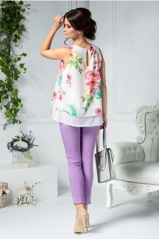 Pantaloni Nicola lila casual