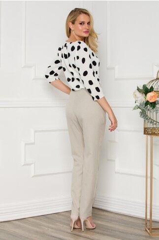 Pantaloni office Ginette beige-gri