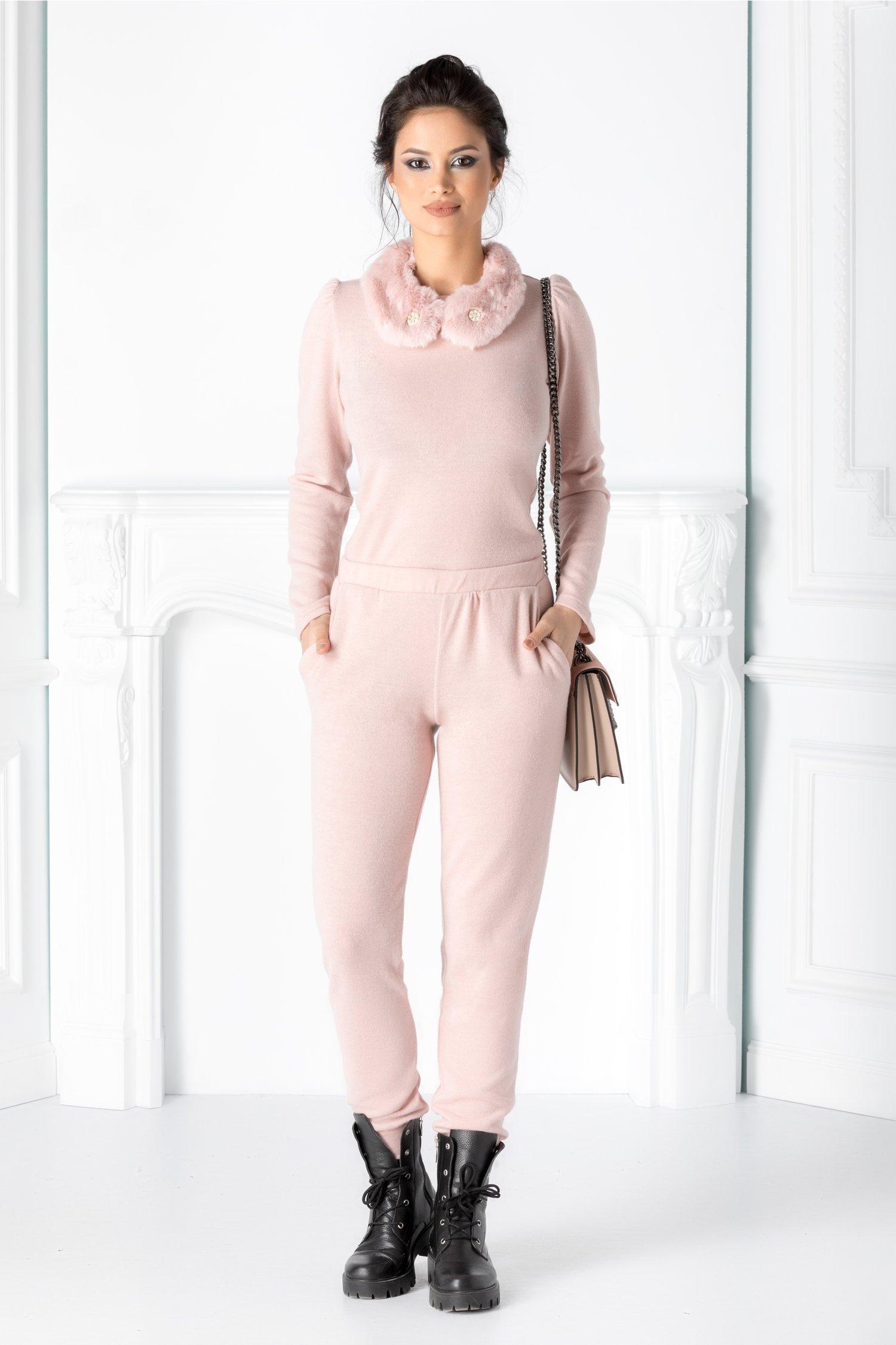 Pantaloni roz prafuit din jerse thumbnail