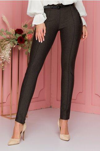 Pantaloni Sara maro cu imprimeuri diverse