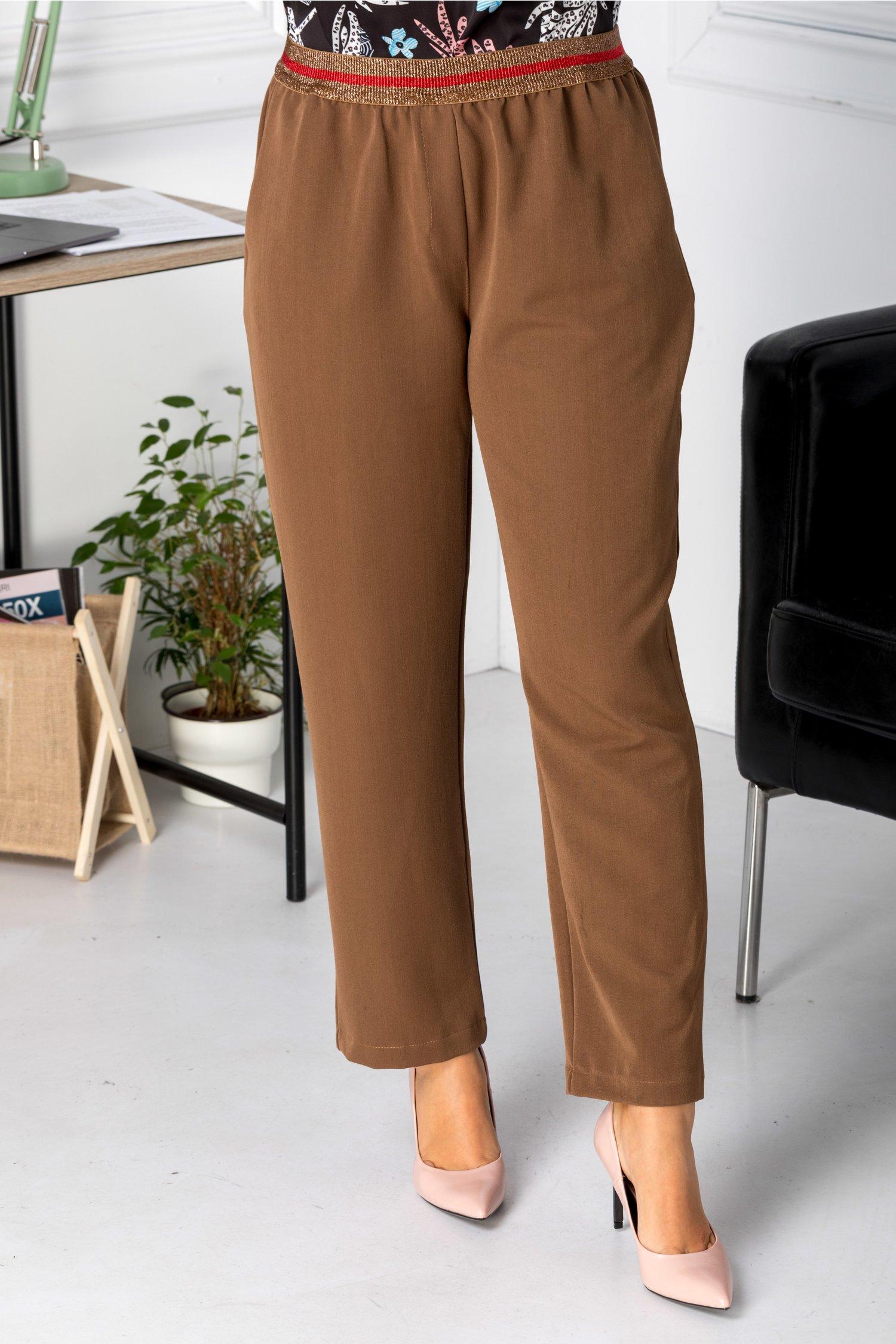 Pantaloni Saylor maro casual