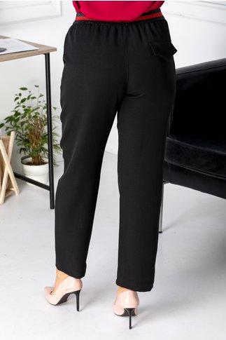 Pantaloni Saylor negri casual