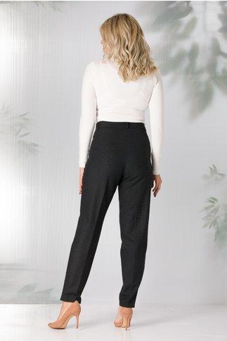 Pantaloni Tud negri cu carouri verzi