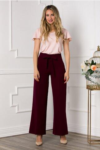 Pantaloni visinii lejeri cu fermoar lateral