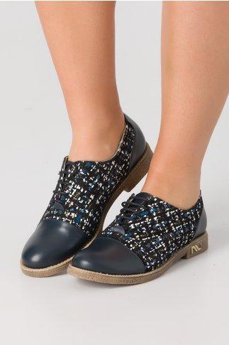 Pantofi casual bleumarin cu imprimeu abstract