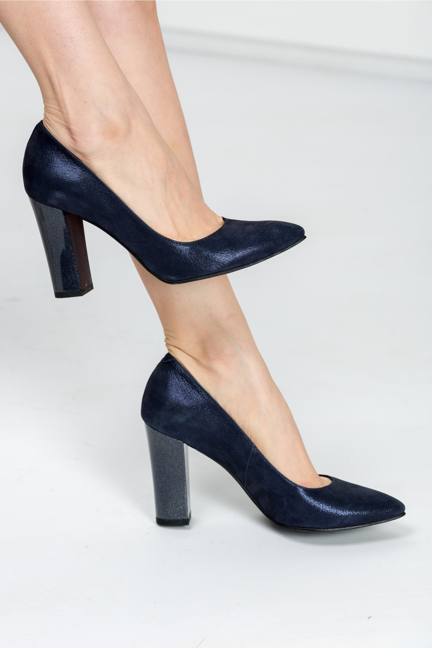 Pantofi Ceren bleumarin sidef de ocazie